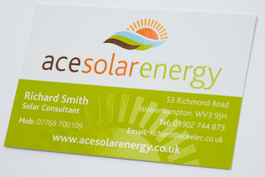 Business cards printing archives your business solutions ltd business card ace solar with spot uv reheart Images