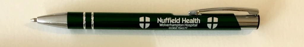 Nuffield promotional pens