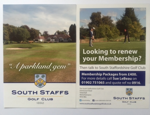 South Staffs Golf Club – A5 Promotional Flyers