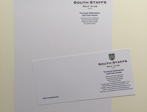 Corporate Stationery – South Staffordshire Golf Club