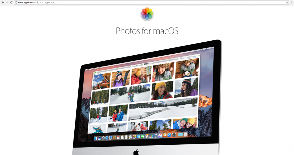 Screenshot of Photos for macOS, a photo editing software