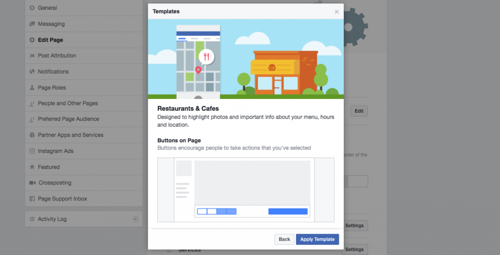 facebook cafe templates